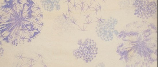 Allium print on blanket by caroline ede at rough acre in herefordshire